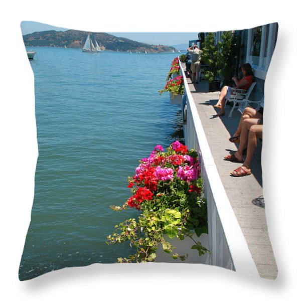 Sausalito Leisure Throw Pillow by Connie Fox