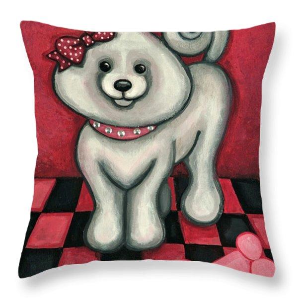 Savannah Smiles Throw Pillow by Victoria De Almeida