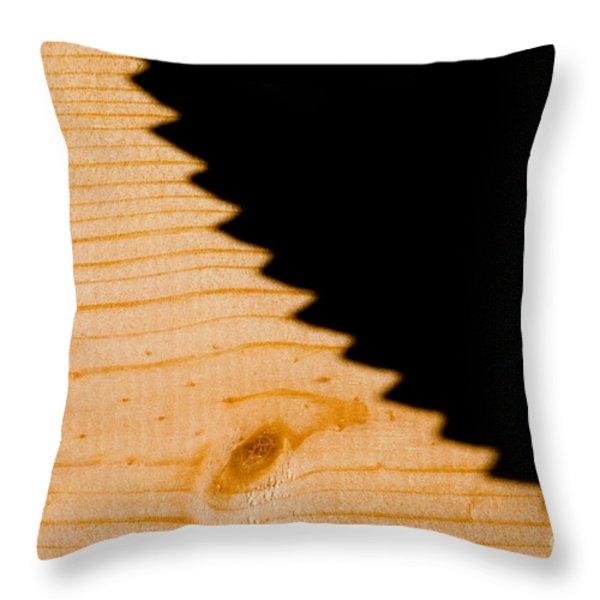 Saw Shadow Throw Pillow by Stephan Pietzko