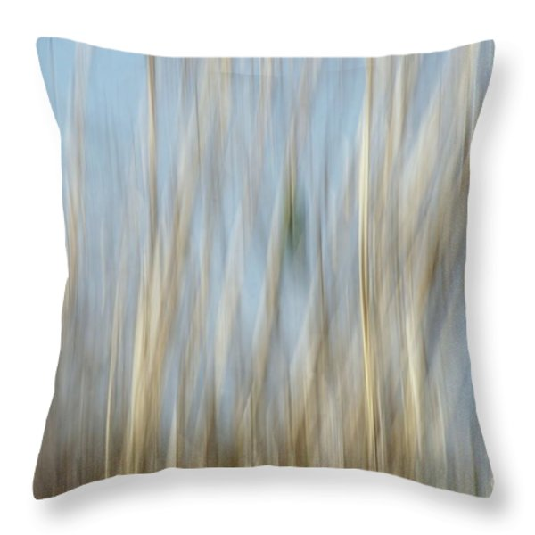 Sawgrass In Motion Throw Pillow by Benanne Stiens