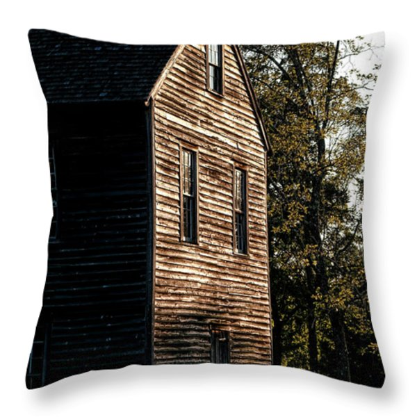 Sawmill Sunlight  Throw Pillow by Olivier Le Queinec