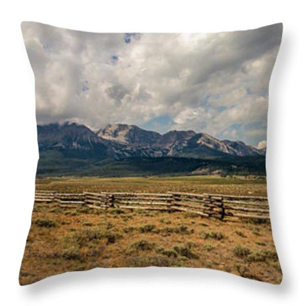 Sawtooth Range Throw Pillow by Robert Bales