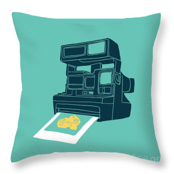 Say Cheese Throw Pillow by Budi Satria Kwan