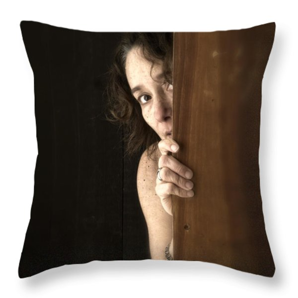 Scared Throw Pillow by Edward Fielding