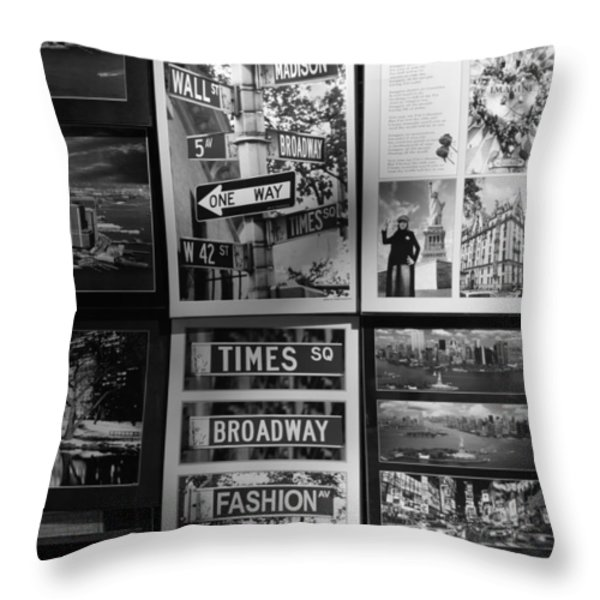 SCENES OF NEW YORK in BLACK AND WHITE Throw Pillow by ROB HANS
