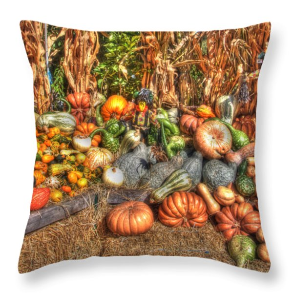 Scenes of the Season Throw Pillow by Joann Vitali