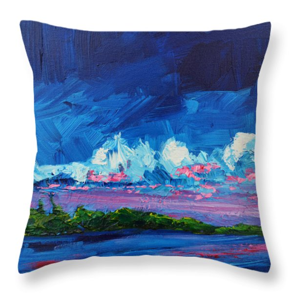 Scenic Landscape Throw Pillow by Patricia Awapara