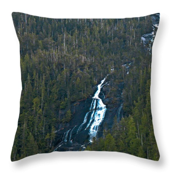Scenic Waterfall Throw Pillow by Robert Bales