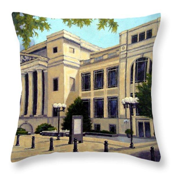 Schermerhorn Symphony Center Throw Pillow by Janet King