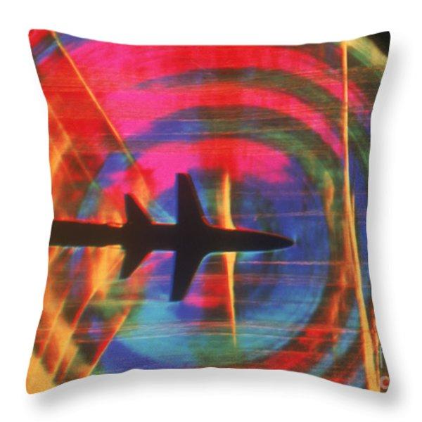 Schlieren Image Of Aircraft Throw Pillow by Garry Settles