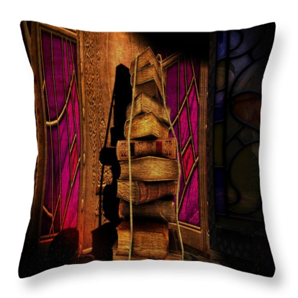 School Daze Throw Pillow by Kylie Sabra