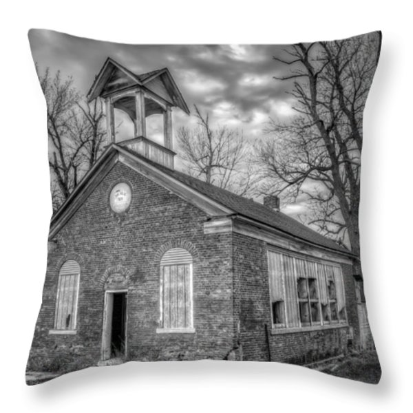 School House Throw Pillow by Scott Norris