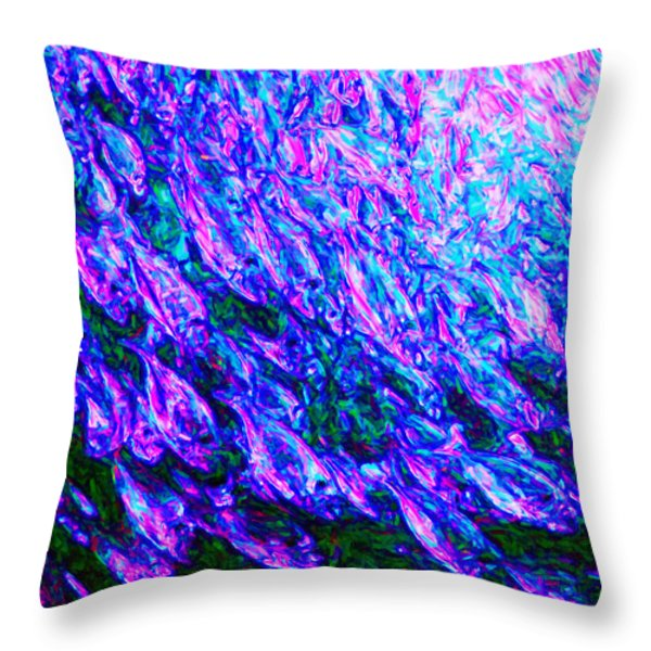 School of Fish Throw Pillow by Wingsdomain Art and Photography