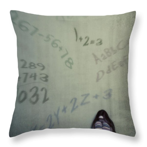 Scolionophobia - Fear Of School Throw Pillow by Joana Kruse