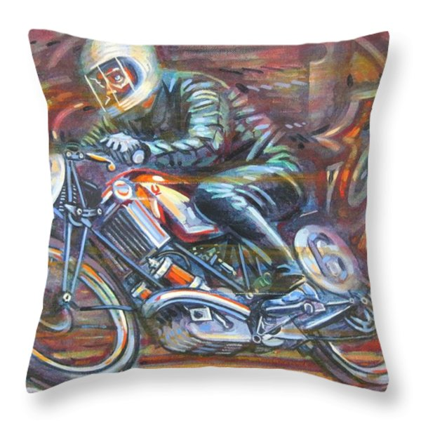 Scott 2 Throw Pillow by Mark Howard Jones