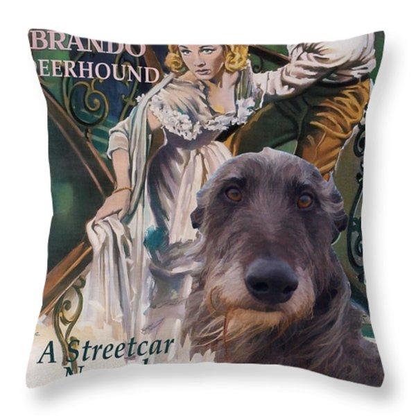 Scottish Deerhound Art - A Streetcar Named Desire Throw Pillow by Sandra Sij