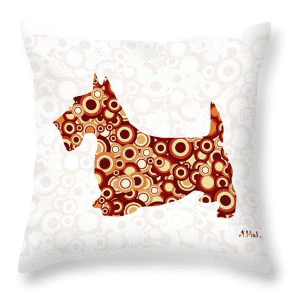Scottish Terrier - Animal Art Throw Pillow by Anastasiya Malakhova