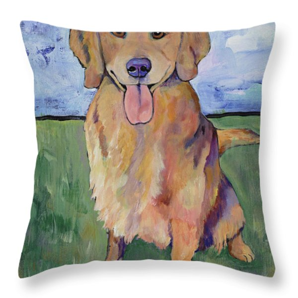Scout Throw Pillow by Pat Saunders-White