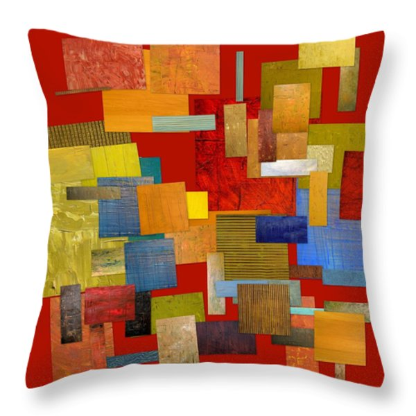 Scrambled Eggs L Throw Pillow by Michelle Calkins