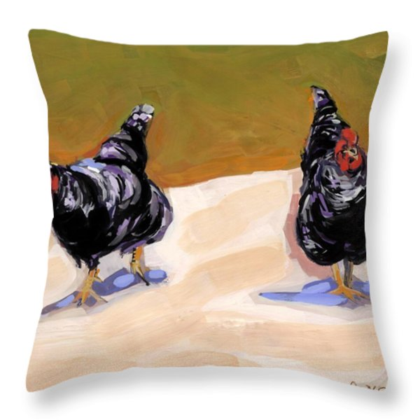 Scratch Throw Pillow by Molly Poole