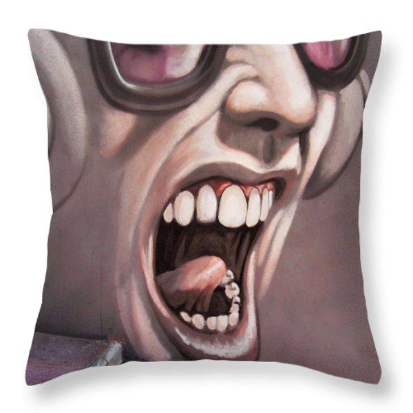 Screamer Throw Pillow by Gillian Singleton