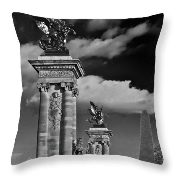 Sculptures Of Paris Throw Pillow by Mountain Dreams