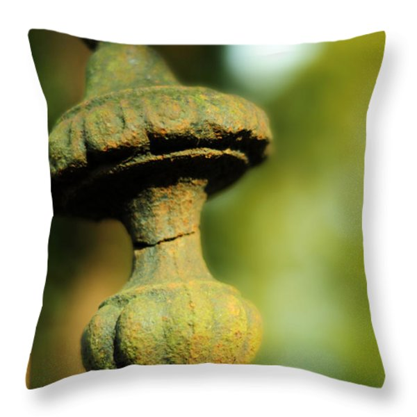 Sea-dews Pearls And Rubies Throw Pillow by Rebecca Sherman