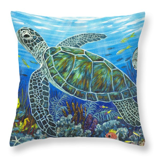 Sea Friends Throw Pillow by Danielle  Perry