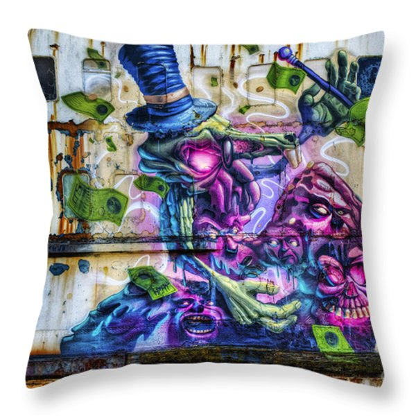 Sea Monster Art Throw Pillow by Ian Mitchell