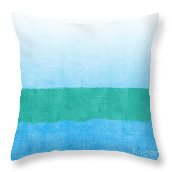 Sea of Blues Throw Pillow by Linda Woods
