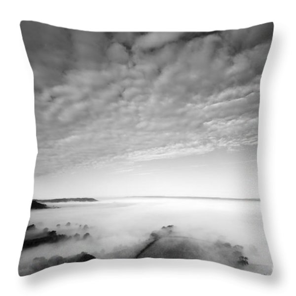 Sea of Fog Throw Pillow by Anne Gilbert