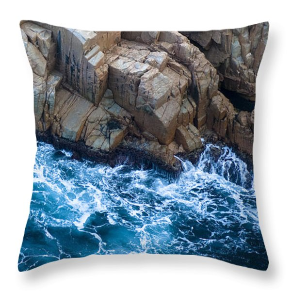 Sea Rocks Throw Pillow by Frank Tschakert