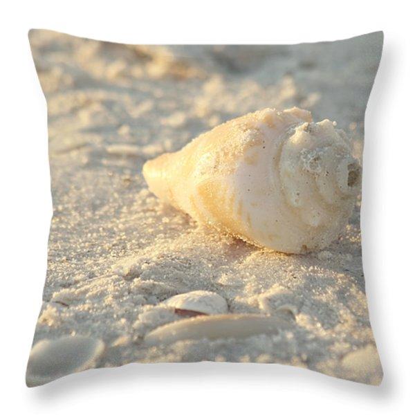Sea Shells Throw Pillow by Kim Hojnacki