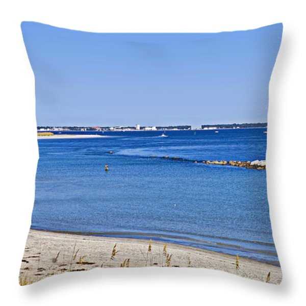 Sea Side Area Throw Pillow by Susan Leggett
