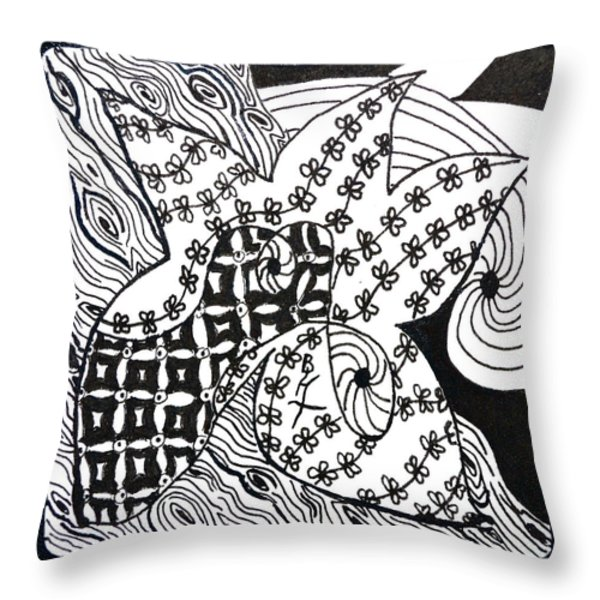 Sea Star Throw Pillow by Beverley Harper Tinsley