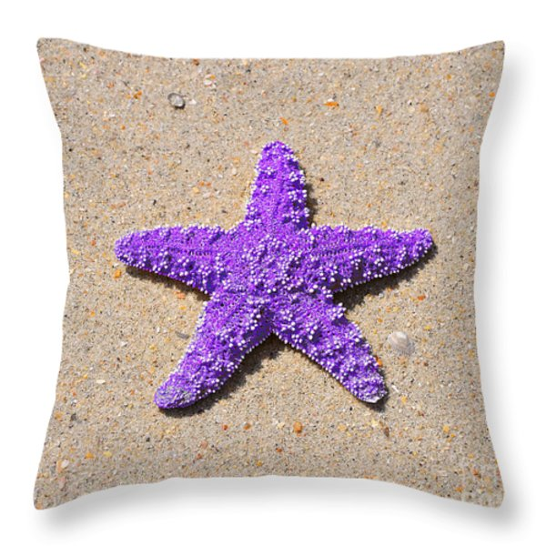 Sea Star - Purple Throw Pillow by Al Powell Photography USA