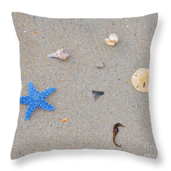 Sea Swag - Light Blue Throw Pillow by Al Powell Photography USA