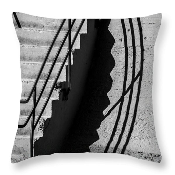 Sea Wall Shadow Throw Pillow by Perry Webster