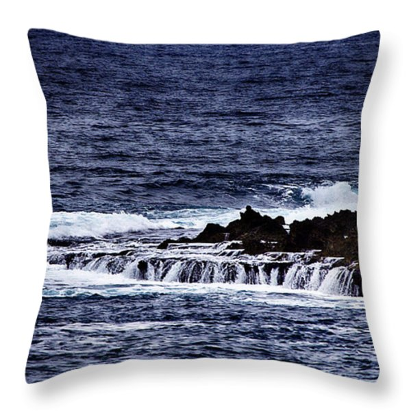 Sea Waterfall Throw Pillow by Douglas Barnard