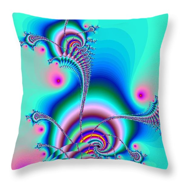 Seahorse Dance Throw Pillow by Anastasiya Malakhova