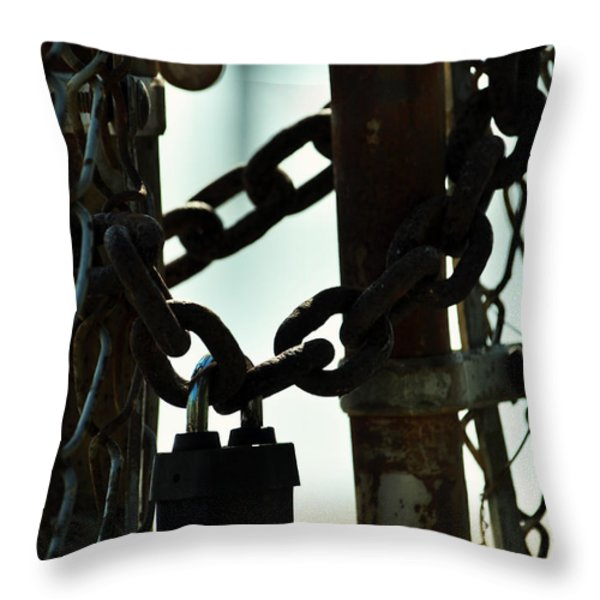 Sealed Throw Pillow by Rebecca Sherman
