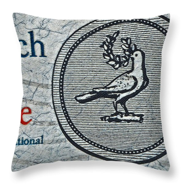 Search For Peace Throw Pillow by Bill Owen