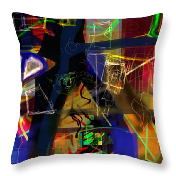search for the straying son 9e Throw Pillow by David Baruch Wolk