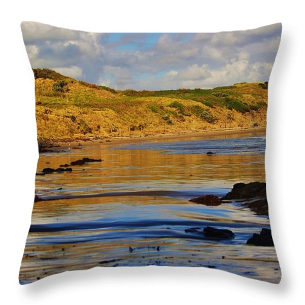 Seascape At Phillip Island Throw Pillow by Blair Stuart