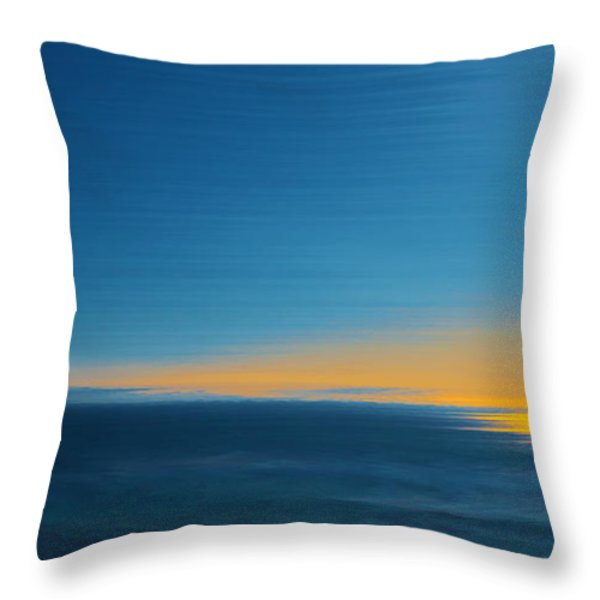 Seascape At Sunset Throw Pillow by Ben and Raisa Gertsberg