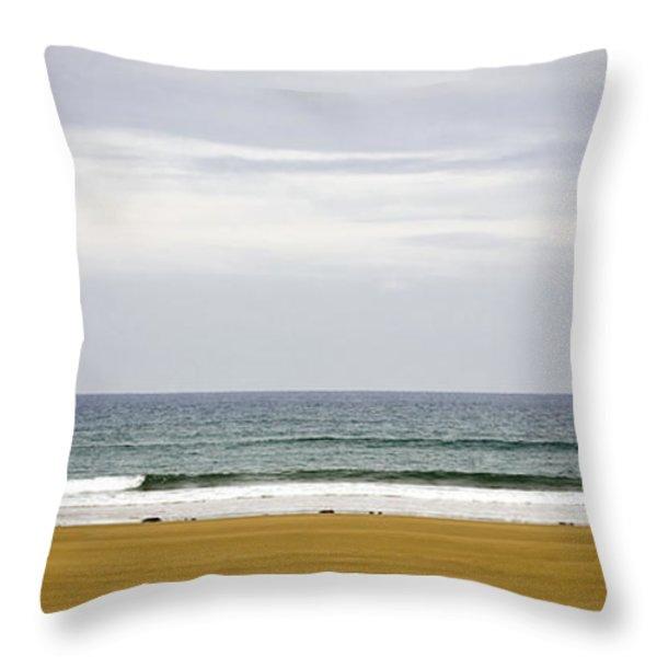 Seascape Throw Pillow by Frank Tschakert