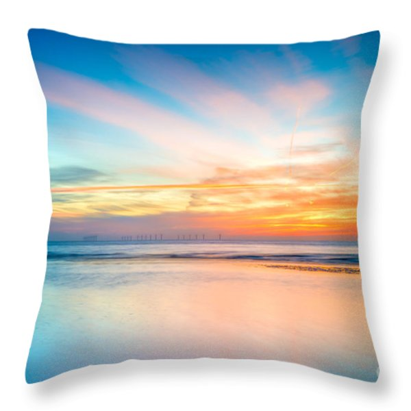 Seascape Sunset Throw Pillow by Adrian Evans