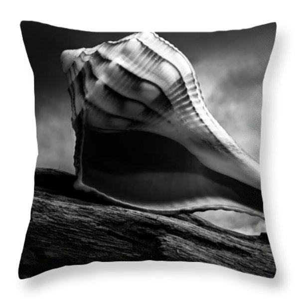Seashell Without The Sea 3 Throw Pillow by Bob Orsillo