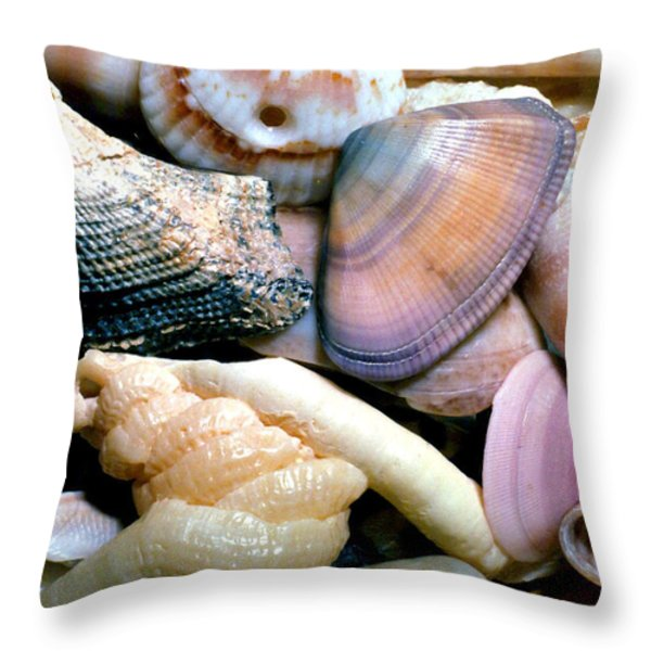 Seashells Puerto Rico Throw Pillow by Thomas R Fletcher