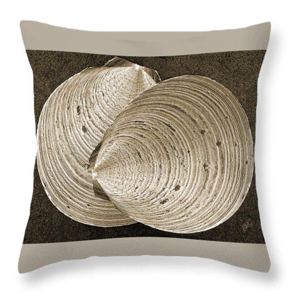 Seashells Spectacular No 11 Throw Pillow by Ben and Raisa Gertsberg